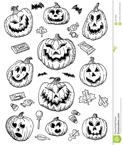 doodle o lantern doodles stock vector image 58712806