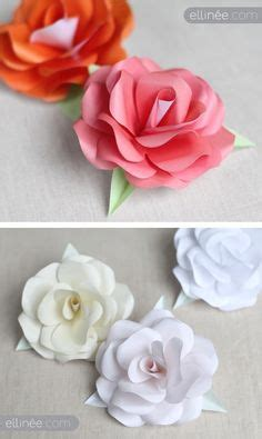 How To Make Paper Roses For Cards - flower template on crepe paper flowers leaf