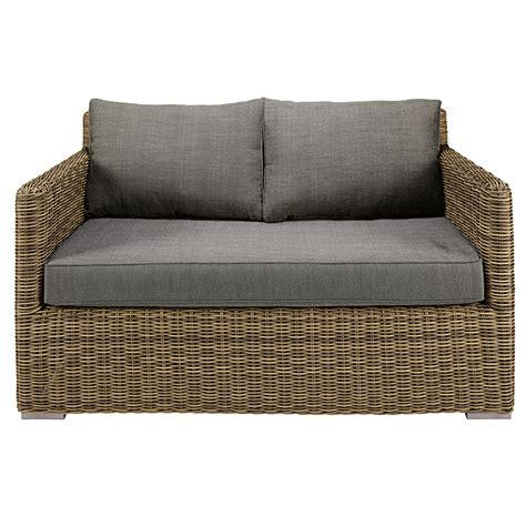 cuscini per divani da giardino divano da giardino 2 posti in resina intrecciata e cuscini