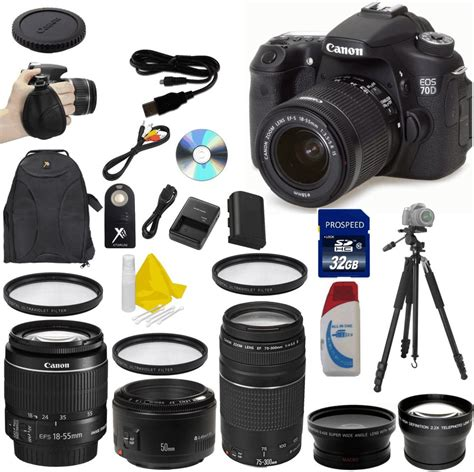 Kamera Canon Eos 70d Kit 2 canon eos 70d 20 2 mp digital slr value bundle kit 13803221596 ebay
