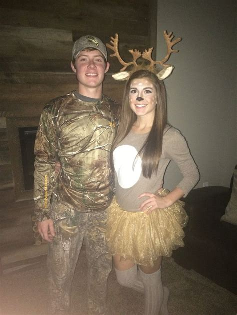 themes for halloween costumes couples halloween costume idea deer and hunter holidays