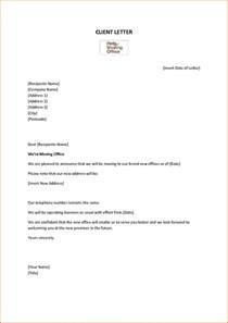 wonderfull change of address letter template letter