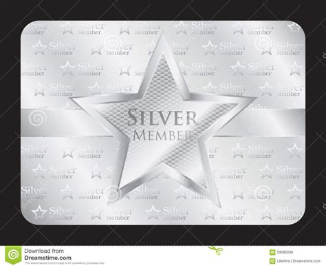 platinum membership card template silver member club card with big stock vector image