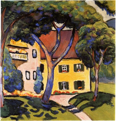 Country Style Houses by House In A Landscape August Macke Wikiart Org