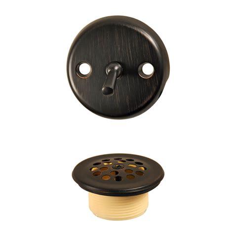 bronze bathtub drain trip lever tub drain trim kit in oil rubbed bronze danco