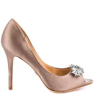 taupe color shoes buzz taupe satin badgley mischka 224 99 free shipping