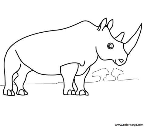 imagenes para colorear rinoceronte dibujo de rinoceronte para pintar imagui