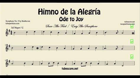 ode to joy violin piano himno de la alegr 237 a himno de la alegr 237 a partitura f 225 cil de saxo alto en sol mayor partituras en descripci 243 n youtube