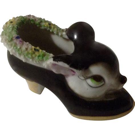 porcelain deer head deer head shoe rare big eye porcelain ceramic figurine