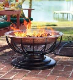 Copper Firepit Solid Hammered Copper Pit With Lid Converts To Table Pits