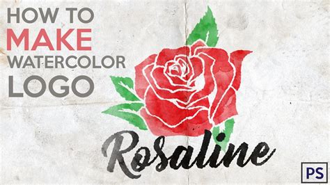 rose tattoo logo how to make watercolor logo in photoshop