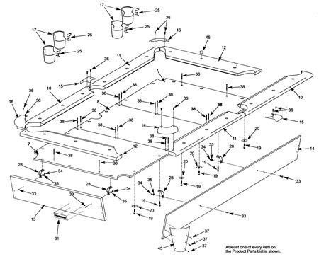 pool table parts diagram harvard pool table parts model 52725410 sears partsdirect