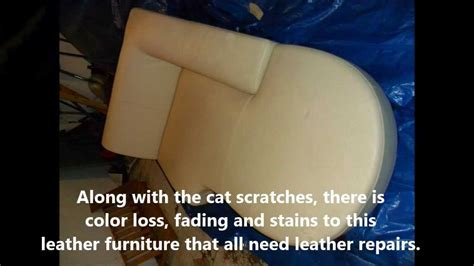 do cats scratch leather couches cat scratch repair on leather furniture in st louis mo