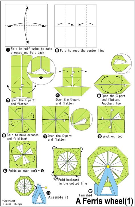 How To Make A Paper Ferris Wheel - project 01 origami ferris wheel diy