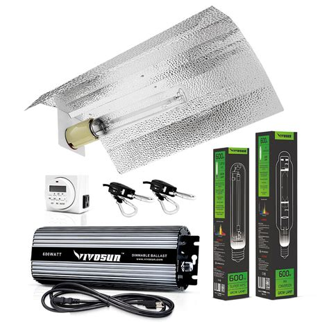 vivosun    watt grow light kit hps mh wing