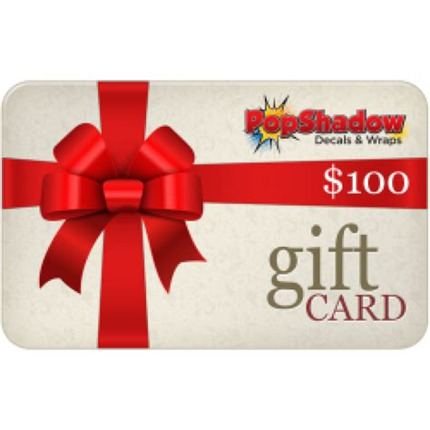 100 Gift Card - popshadow 100 gift card
