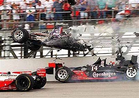 indy car crash indycar racer s is not something to cheer about the bottom line