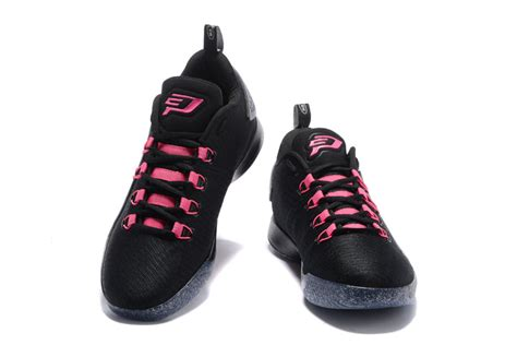 black and pink basketball shoes high quality nike air cp3 x black pink white s