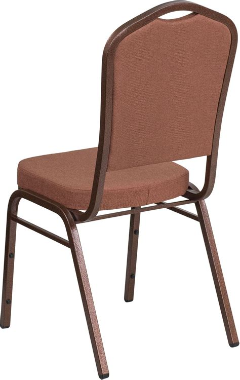 hercules stacking banquet chairs 31716 hercules series crown back brown fabric stacking