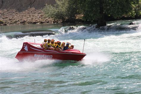 speed boat ride speed boat ride at manavgat river from side turkey vigo