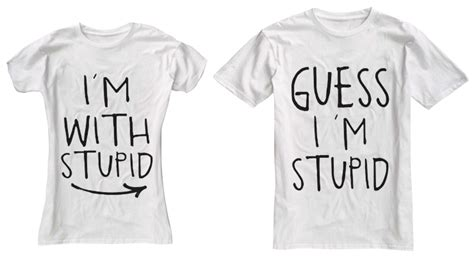 Matching Shirts For Couples And Baby I M With Stupid T Shirts Screened Stylin