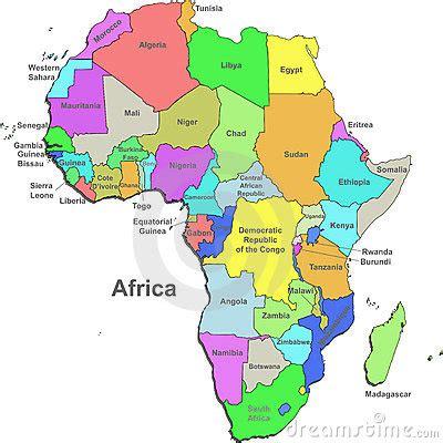africa map 2000 carte de l afrique photos libres de droits image 13084088