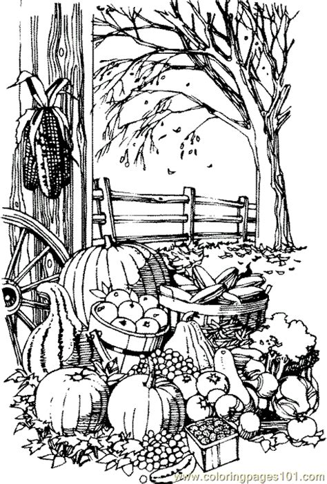 coloring pages fall harvest natural world gt autumn