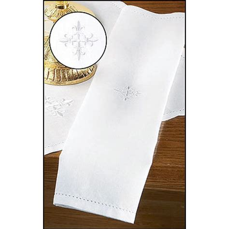 lavabo towel linen lavabo towel with embroidered cross clergy apparel