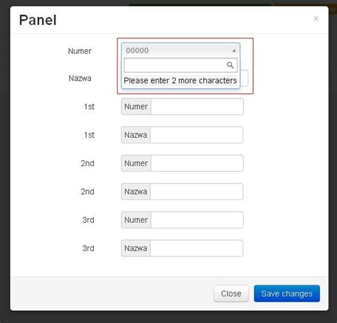 templates modal bootstrap jquery select2 doesn t work when embedded in a bootstrap