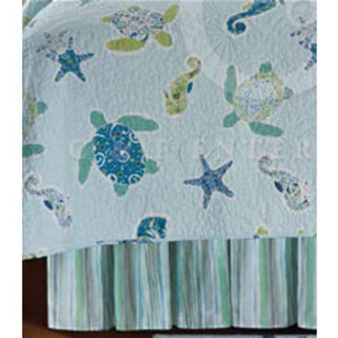 sea turtle bed sheets imperial coast sea turtle dust ruffle bed skirt