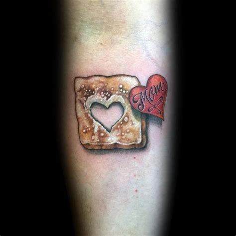 toast tattoo ideas  men sliced designs