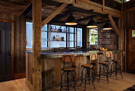 Cabin Pub by Log Cabin Bar Farmhouse United States With Themed Room Wall And Signs