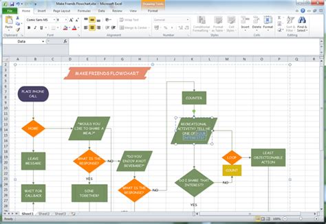 flowchart excel how to draw flow charts in excel 2010 flow chart