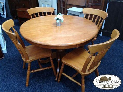 Solid Pine Dining Furniture by Solid Pine Wood Pedestal Dining Table 4 Chairs