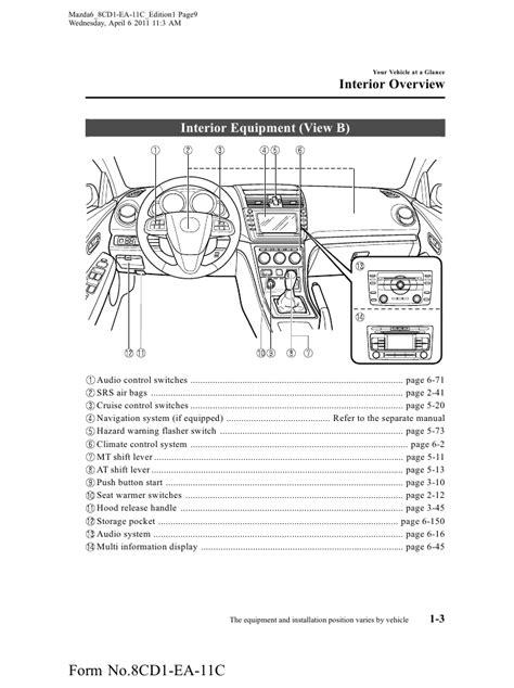 2012 Mazda Mazda6 Sedan owners manual provided by naples mazda