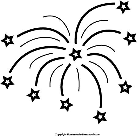 new year clipart black and white free fireworks clipart