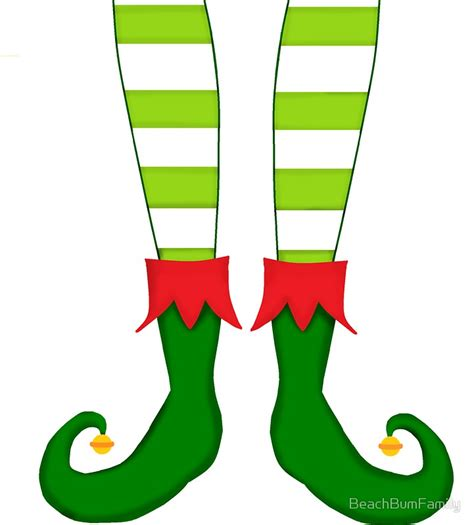 printable elf legs quot red and green funny christmas elf feet quot stickers by