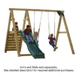 home depot swing set kit swing n slide playsets pine bluff play set just add 4x4 s