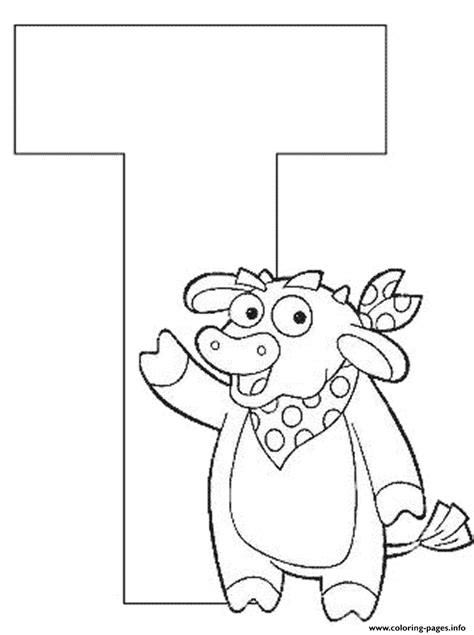 dora alphabet coloring pages letter t dora the explorer alphabet e243 coloring pages