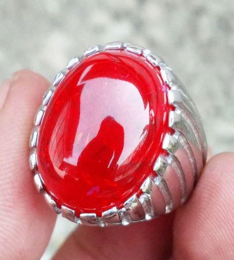 Batu Akik Merah Sieum Pecah Seribu batu cincin merah siam pecah seribu plus ring