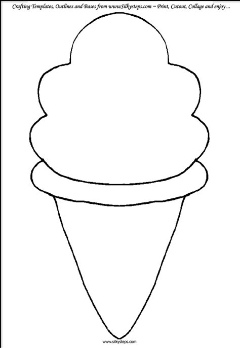 ice cream cone template felt fun pinterest ice cream