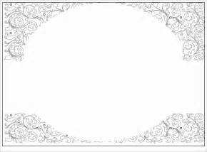 Blank Invitation Cards Templates Blank Invitation Templates Free For Word Blank Baby