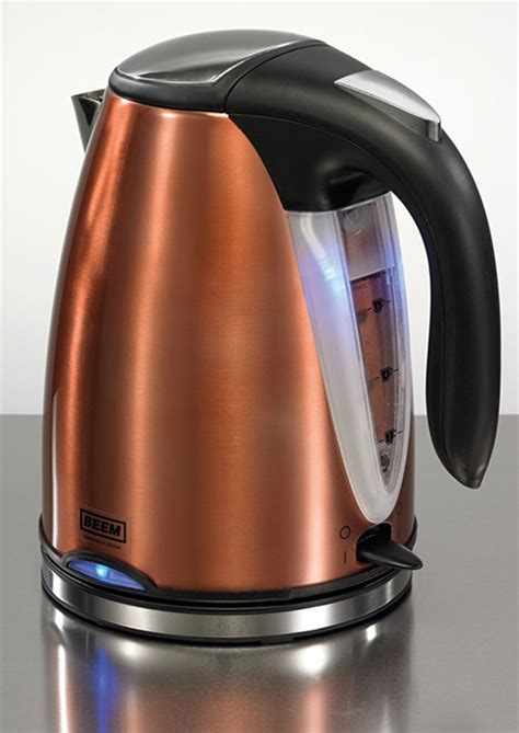 Stainless Steel Kettle And Toaster Set Beem Nobilis Copper Style Breakfast Set
