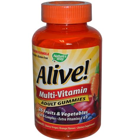 Vitamin Vitamam Nature S Way Alive Multi Vitamin Gummies Cherry