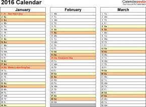 4 month calendar template 2014 6 best images of printable 2016 calendar 4 month per page