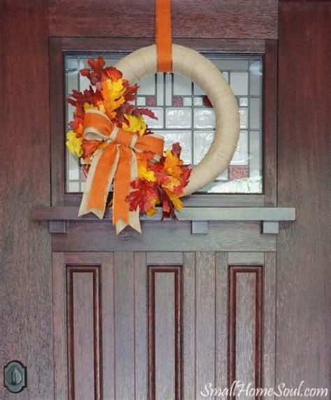 diy wreaths front door front door diy fall wreath allfreeholidaycrafts