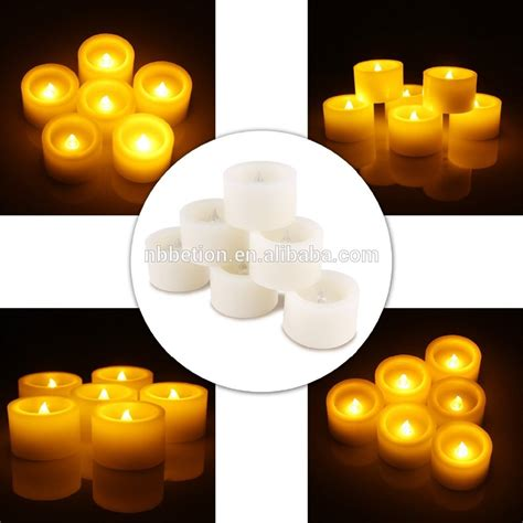 battery operated tea lights with timer set of 6 battery powered led tealight votive