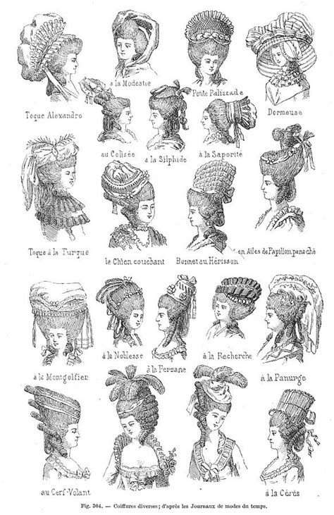 18th Century Hairstyles by Hairstyle 18th Century Print By Granger