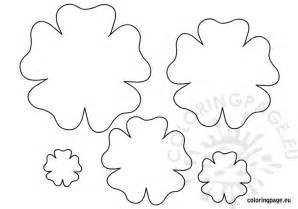 Free Flower Template Printable by Flower Template Printable Coloring Page