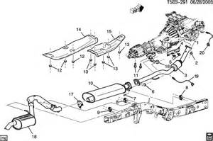 Gmc Envoy Exhaust System Diagram 2002 Bravada Envoy Trailblazer Muffler Diy Replacement